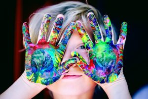 LifeForward new website colourful childs hands